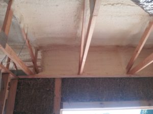 insulating a straw bale house
