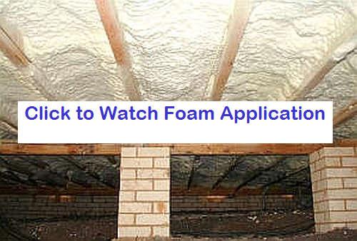 spray foam underfloor insulation